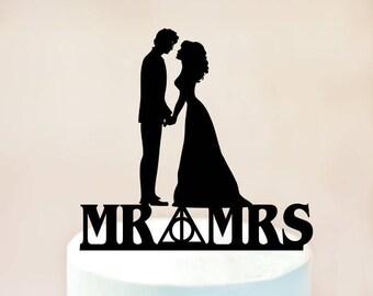 Wedding Cake Topper,harry potter cake topper,harry potter Wedding,Always Cake Topper,Groom and Bride Cake Topper,Love Cake Topper (1112)