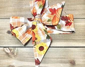 Matching Headbands- Pumpkin Headband; Pumpkin Bow; Pumpkin Headwrap; Fall Headband; Thanksgiving Headband; Sunflower Headband; Sunflower Bow