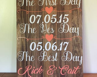 First Day Yes Day Best Day Sign