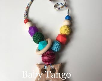 Breastfeeding necklace*Nursing Necklace* crocheted necklace* baby teething necklace*feeding necklace