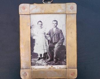 Antique  Brass Frame  Steampunk photo frame Antique photo frame