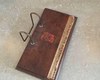 Weis Manufacturing Vintage Wooden Ledger