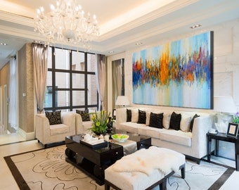 Large Decor Art, Abstract Painting, Abstract Decor Painting,Large Wall Art,  Abstract