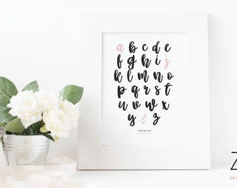 Personalised alphabet letter print for couples