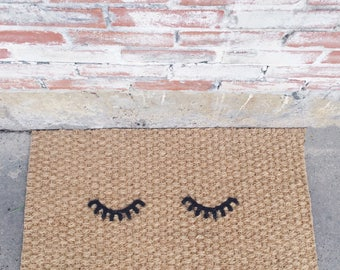 Eyelashes doormat