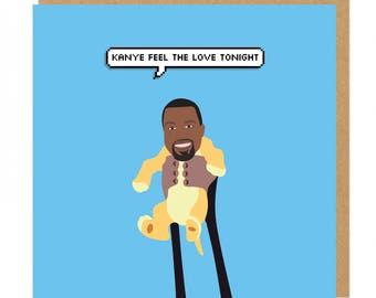 Kanye feel the love tonight Kanye West Lion King Valentines Greeting Card