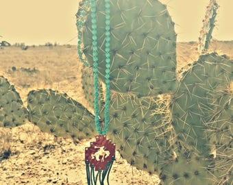 Bronc Fringe Necklace on Turquoise