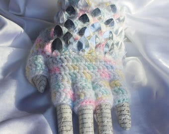 My Little dragon scale glove - Pastel Mirror
