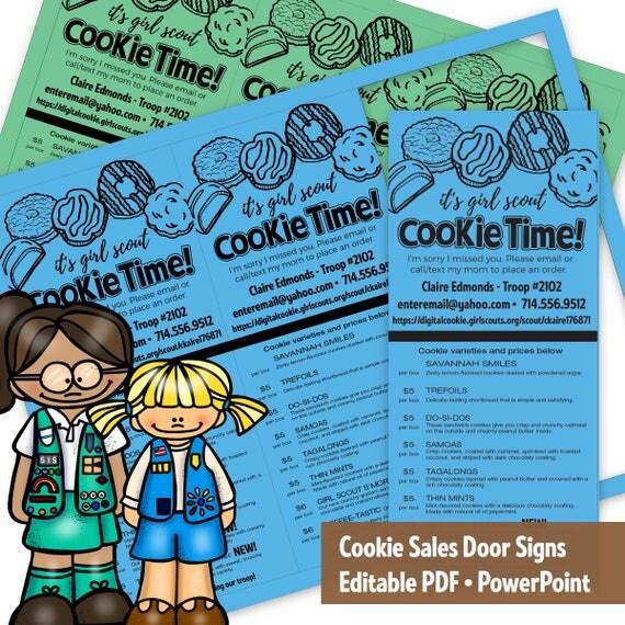 cookie sales door sign cookie door hangar   sorry i