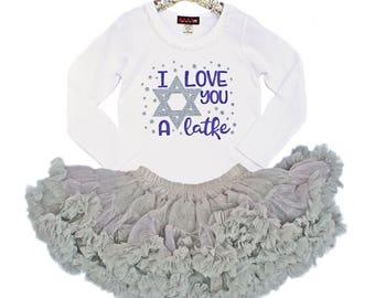 First Hanukkah Outfit, Girls 1st Hanukkah Outfit, Hanukkah Shirt