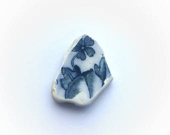 Genuine Irish Sea Pottery, Sea Pottery Floral Pattern, Beach Pottery