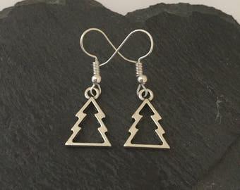 Christmas tree earrings / Christmas earrings / Christmas jewellery / Christmas gift / stocking fillers / secret santa gift