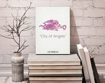 City of Angels - Los Angels City, Map Poster, Minimalism Poster, Los Angeles Map Print