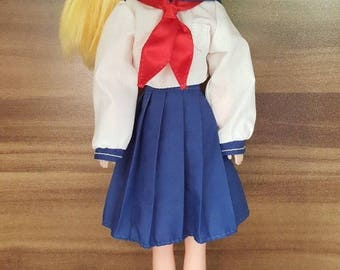 Italian Sailor Moon Venus Doll + Original School Uniform Aino Minako
