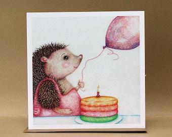 Celebration Hedgehog Card