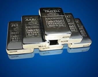 13 Engraved lighters - Groomsmen engraved refillable lighter in box - Personalized Groomsmen gifts - Bridesmaid Engraved custom wedding gift