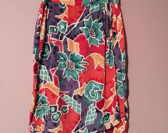 Tropical Wrap Skirt (Plus Size)