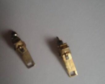 Steampunk Zipper Earrings
