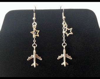 Airplane earrings - Christmas gift idea - Airhostess