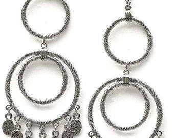 Edie Sedgwick Inspired Femme Fatale earrings