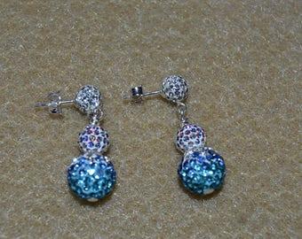 Swarovski Pave Bead Earrings