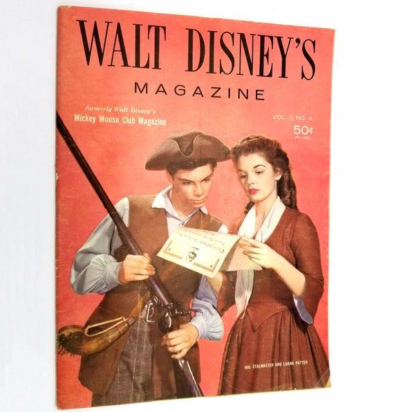 Walt Disney's Magazine (formerly Walt Disney's Mickey Mouse Club Magazine) Volume 2, Number 4, 1957 Disneyana Luana Patten