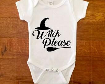 Witch Please Halloween Onesie