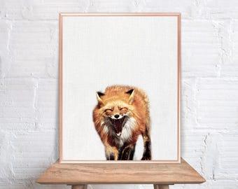 Fox wall art / Fox home decor / Fox Print / Fox / Fox Art / Fox Wall Decor / home decor Fox #82
