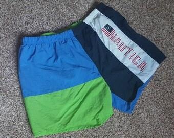 Vintage 1990s Nautica Swim Trunks