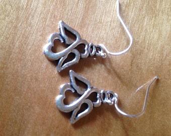 Silver Angel Dangle Earrings