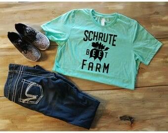 Schrute Beet Farm shirt, The Office tv show shirt, Schrute Farms, Beets, Schrute Bed and Breakfast, bears beets battlestar, Office gift