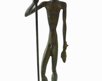Poseidon statue ancient Greek God of the sea bronze sculpture