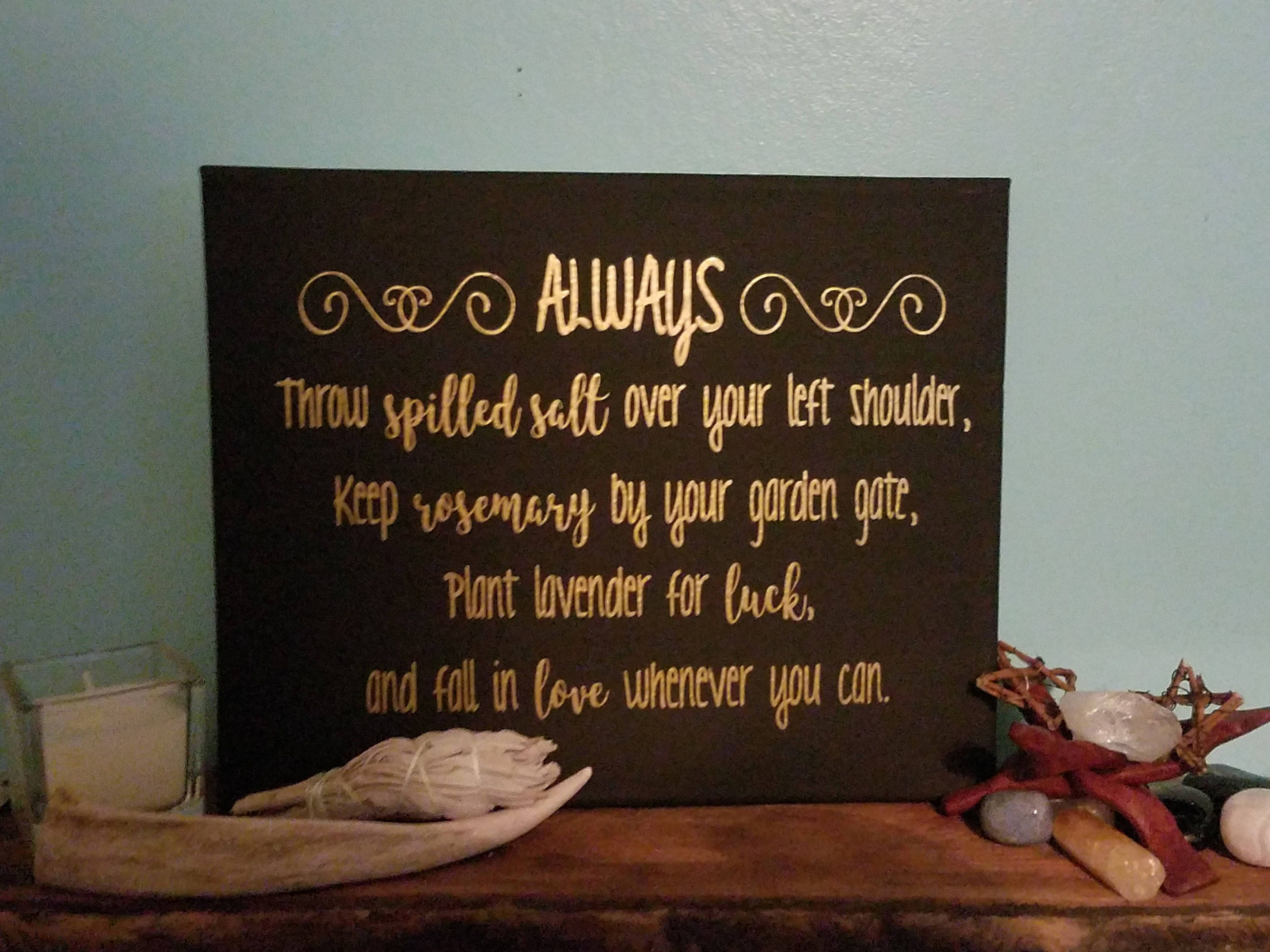 Practical Magic Quote Canvas | Witch Home Decor | Wicca | Pagan | Wiccan |  Wicca