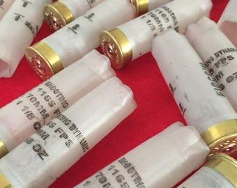 36 Empty Shotgun Shells Casings Empty Once Fired Ammo Spent Cartridge Shotshells White Translucent 12 Gauge