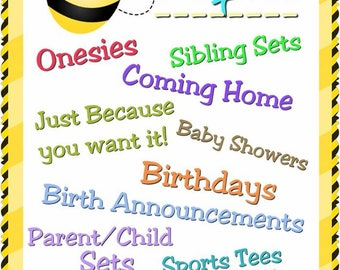 Preemie, Twins, Custom Baby, Toddler, Kids, Teens And An Occassional Adult or Two! :-)   Preemie thru Adult XXXL