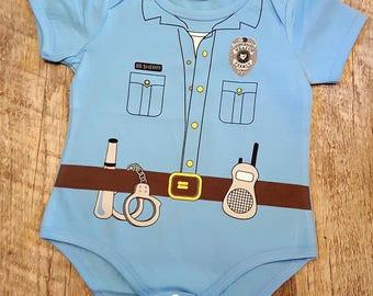 Back The Blue, Police, Law Enforcement, Police Babies, Baby Boy Police Uniform Onesie Bodysuit