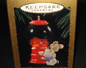 CUTE Hallmark Keepsake Magic Ornament ~Goody Gumballs ~ Brand New in Box 1995