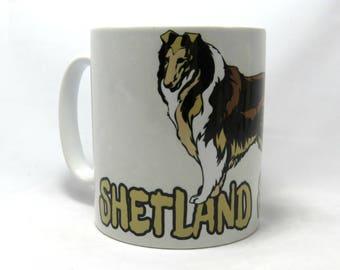 Shetland Sheepdog, Coffee Mug, Sheltie Mug, Unique Sheltie Gifts