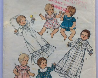 Vintage Style sewing pattern 1825 - babies' layette - size 6 months