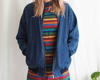 vintage levi strauss denim bomber jacket