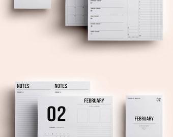 B6 TN Insert | B6 TN Printable | B6 Insert February