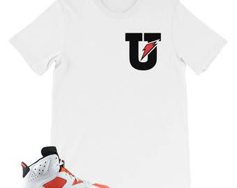 "Gatorade 6 ""Big U"" Tee : To Match Jordan 6 Gatorade Sneakers"