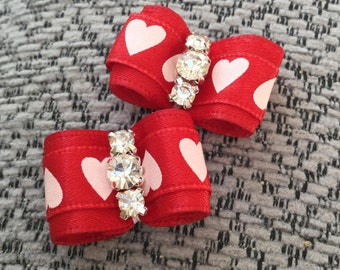 Love ( red ) dog bow