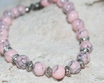beach bracelet turquoise pink