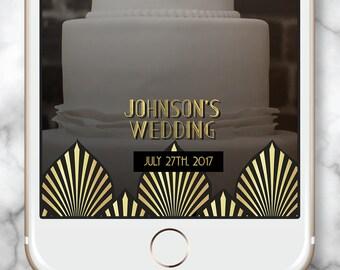 Gold Snapchat Filter Wedding  * 30th Birthday Geofilter Art Deco Geofilter Gatsby Geofilter Elegant Snap chat Filter Gatsby Snap chat