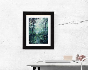 print, forest print, art print, landscape painting, painting, art, wall art prints, decor, nature art, landscape art print, saltwatercolors