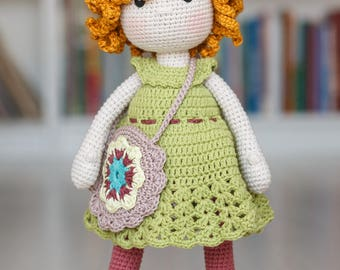 AUGUSTA Crochet Doll - Amigurumi doll - Stuffed doll - Handmade doll - Interior doll - Crochet toy - Handmade toy - Baby Gift