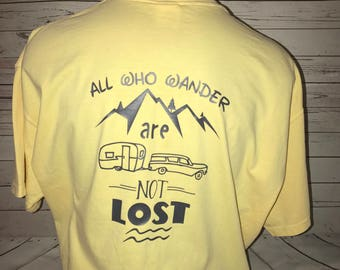 All Who Wander Shirt/vintage camper/happy camper/Valentines day Gift
