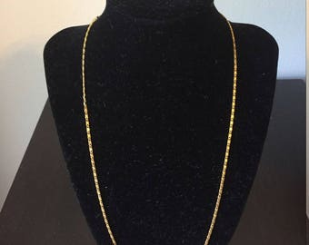 Gold chain necklace, 18k gold plated necklace, link chain necklace