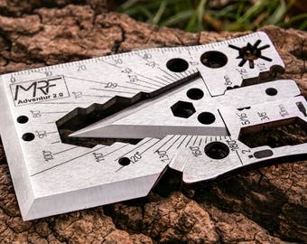 Multitool Credit Card Size Pocket Multi Purpose Survival Tool fit in your Wallet Gift Fot Him